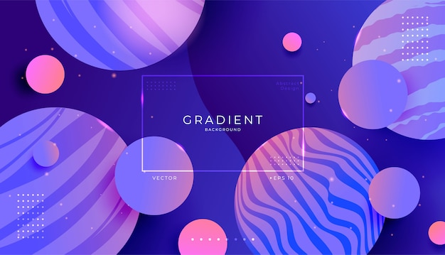 Abstract modern dynamic 3d planet outer space background