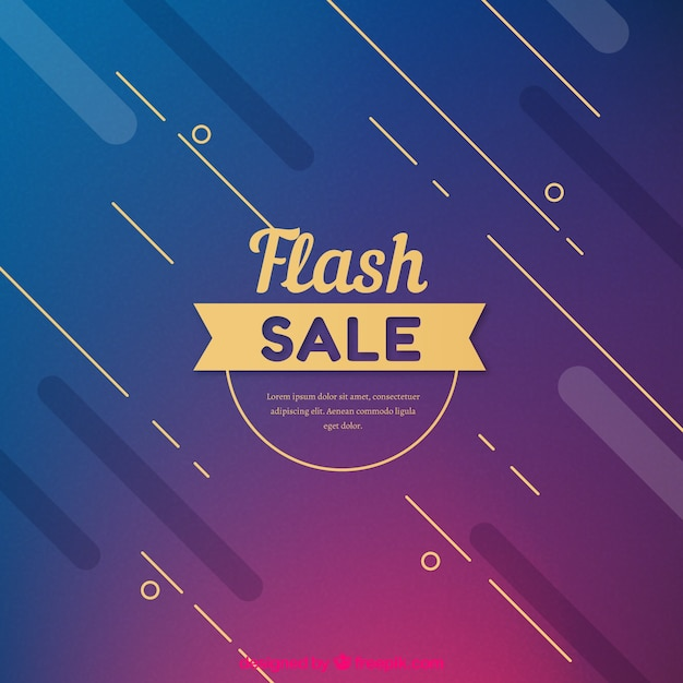 Abstract modern flash sale background Free Vector