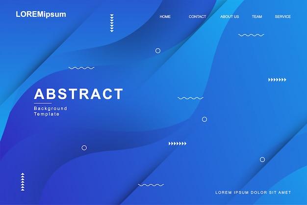 Abstract modern fluid background Premium Vector