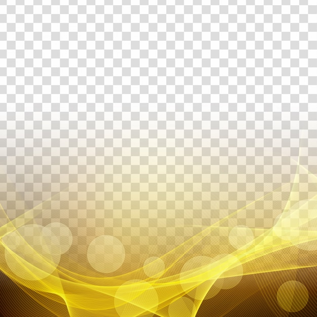 Abstract modern glowing wave transparent background Free Vector