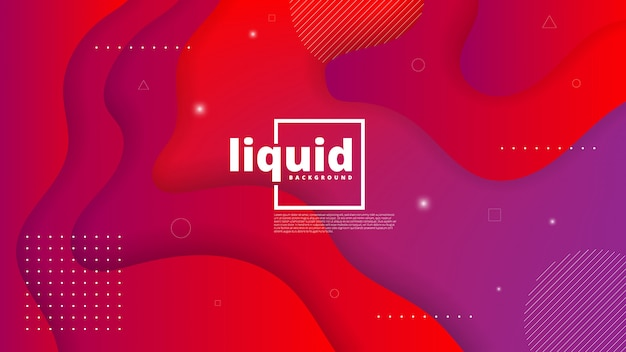 Abstract modern graphic element. dynamical colored forms and waves. gradient abstract background with flowing liquid shapes Premium Vector