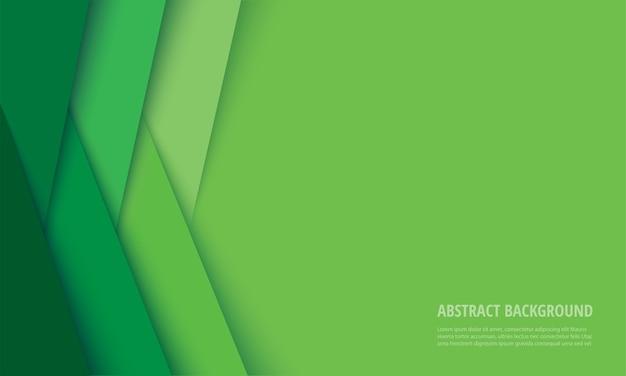 抽象的なモダンな緑の線の背景 Premiumベクター