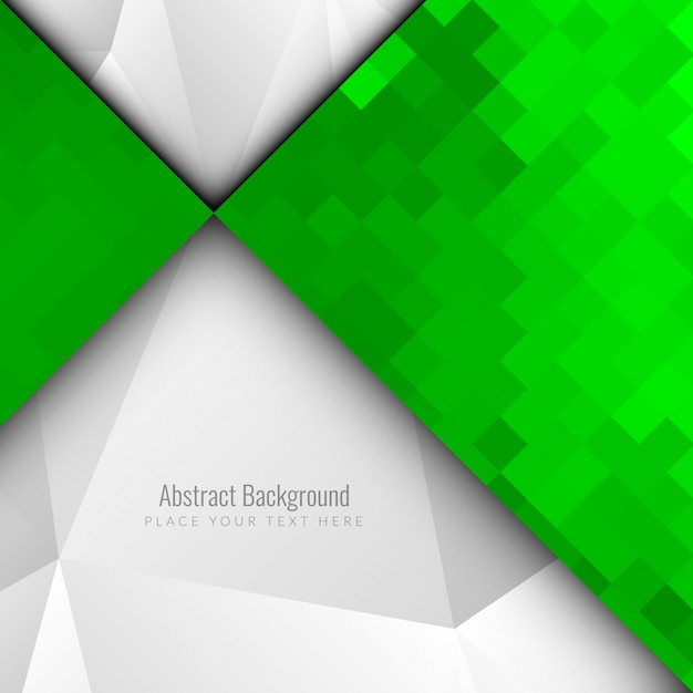 Abstract modern green mosaic background
