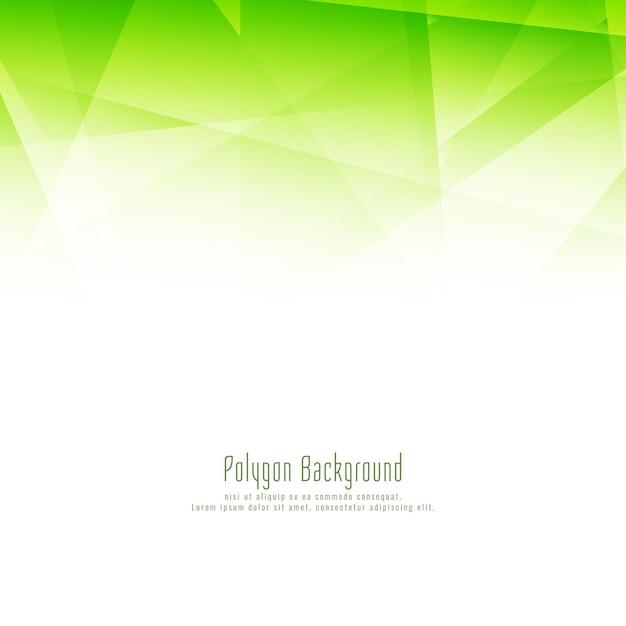 Fondo verde moderno astratto del poligono Vettore gratuito