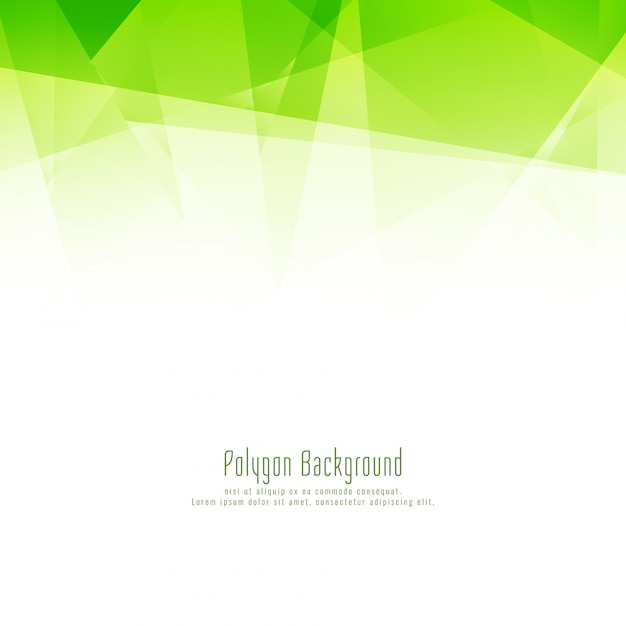 Abstract modern green polygon design background Free Vector