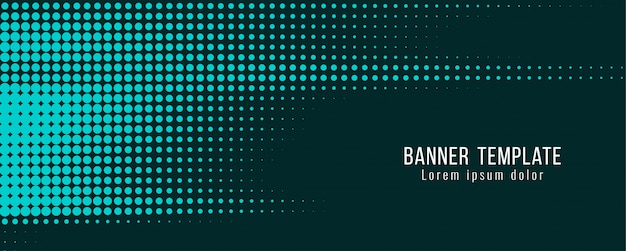 Abstract modern halftone banner template Free Vector