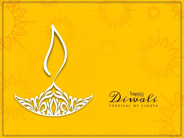 Abstract modern happy diwali decorative background Free Vector