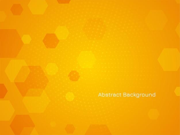 Abstract modern hexagonal design background vector Free Vector