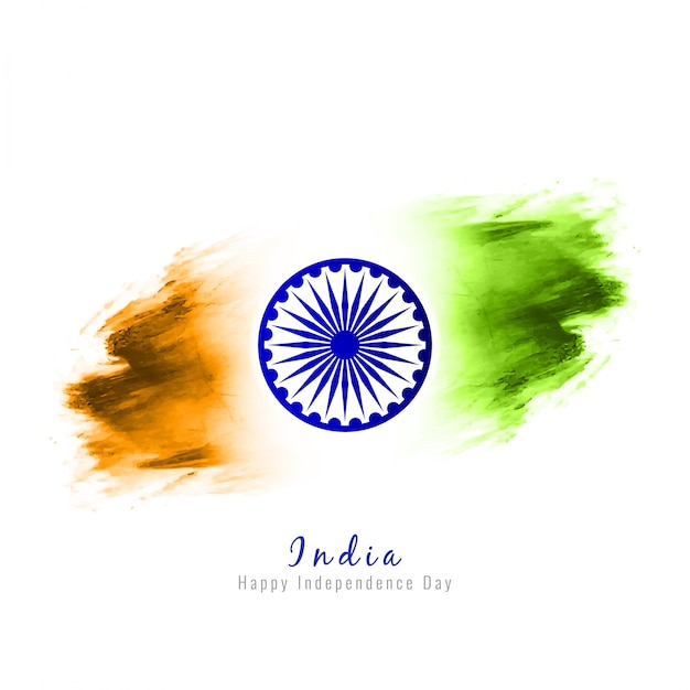 Abstract modern indian independence day design