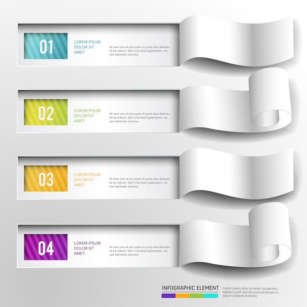 추상적 인 현대 Infographic 디자인 요소 배너입니다. 프리미엄 벡터