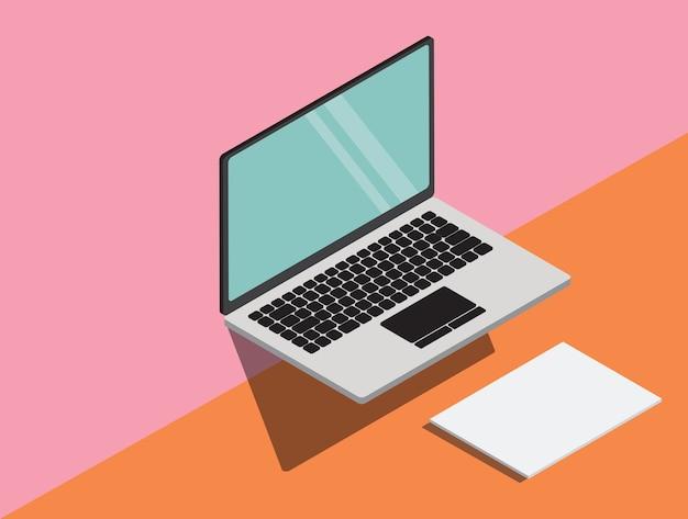 추상적 인 현대 노트북 및 소재 디자인 배경 프리미엄 벡터