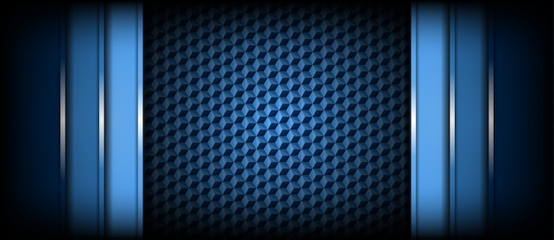 Abstract modern light and dark blue background overlap layers Premium Vector
