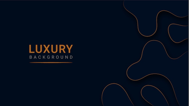 Abstract modern luxury paper cut background Premium Vector