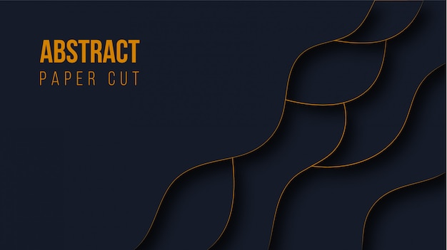Abstract modern paper cut Premium Vector