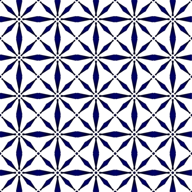 Abstract modern pattern blue and white Premium Vector