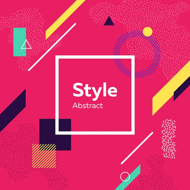 Abstract modern pink ground with geometric figures Free Vector
