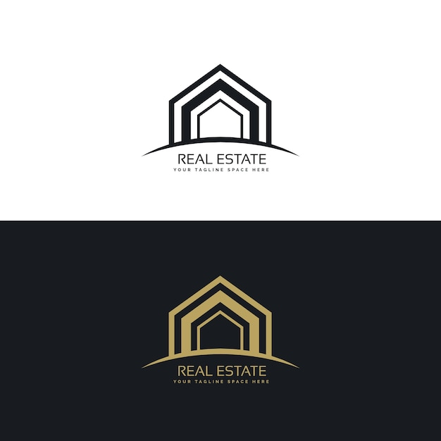 Abstract modern real estate logo