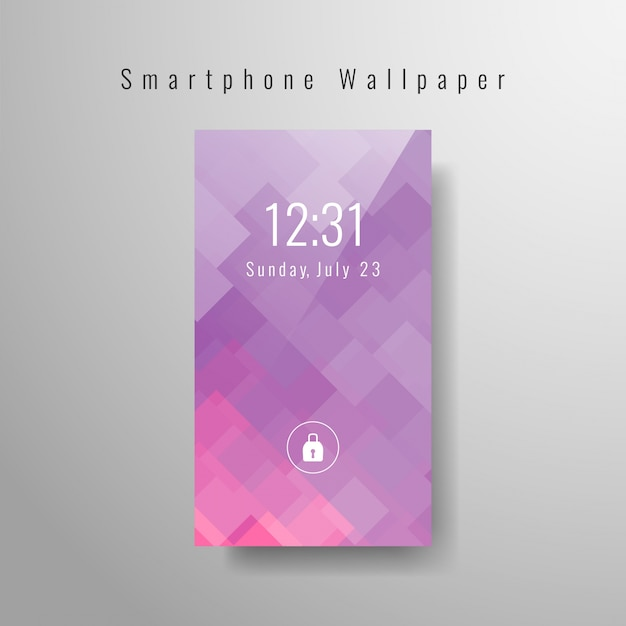 Abstract modern smartphone wallpaper design