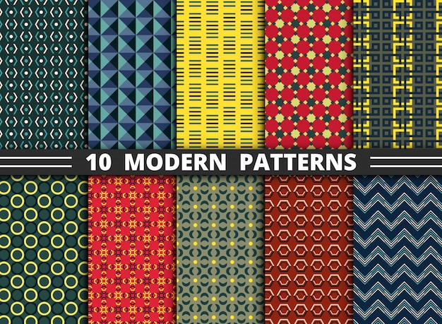 Abstract modern style pattern Premium Vector