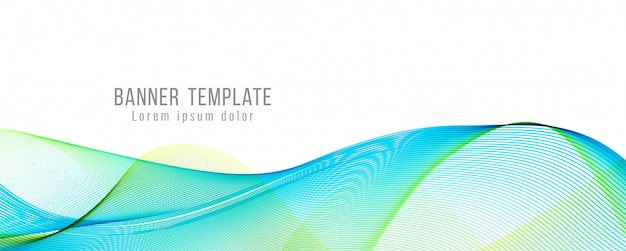 Abstract modern stylish wavy banner template Free Vector