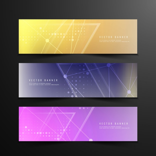 Abstract modern technology banners
