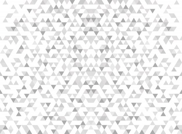 Abstract modern triangle pattern gradient gray background. Premium Vector
