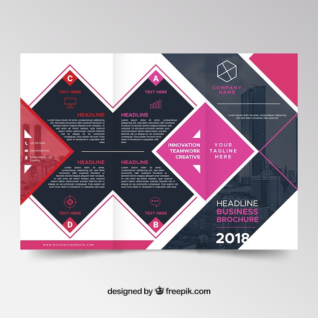 abstract modern trifold brochure design vector free download