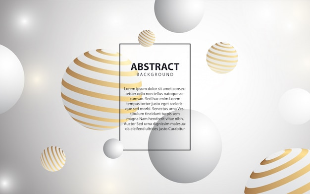Abstract modern white cover background Premium Vector