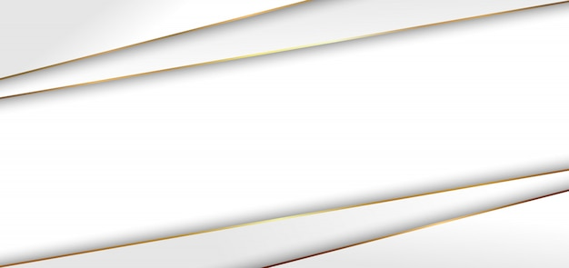 抽象的なモダンな白い三角形背景ゴールデンライン Premiumベクター
