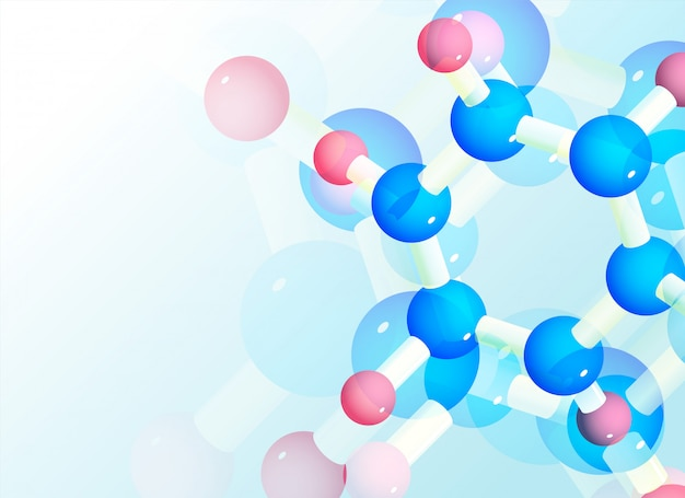 Abstract molecules background for science Free Vector