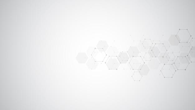 Abstract molecules background. Premium Vector