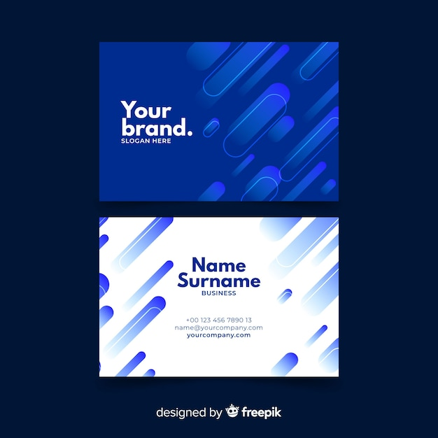 Abstract monochromatic business card template set Free Vector