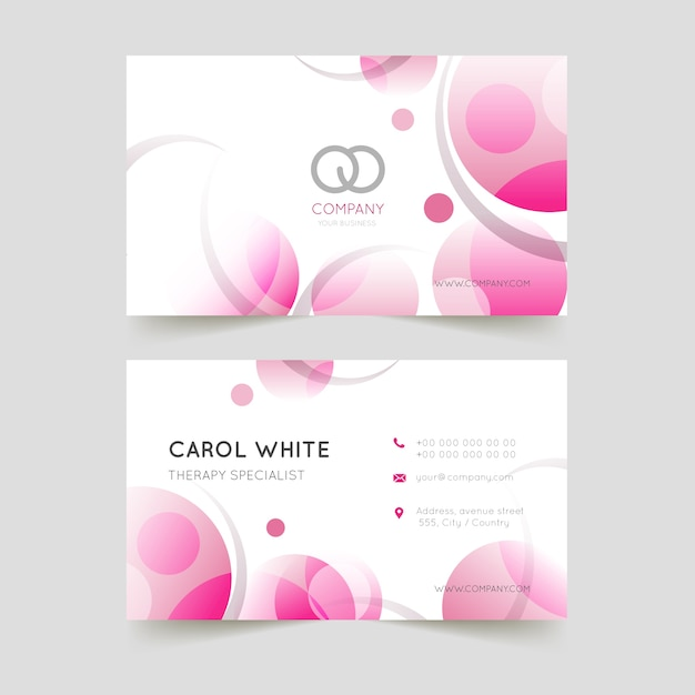 Abstract monochromatic business card template Free Vector