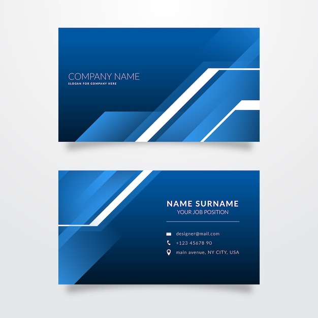 Abstract monochromatic business cards Free Vector