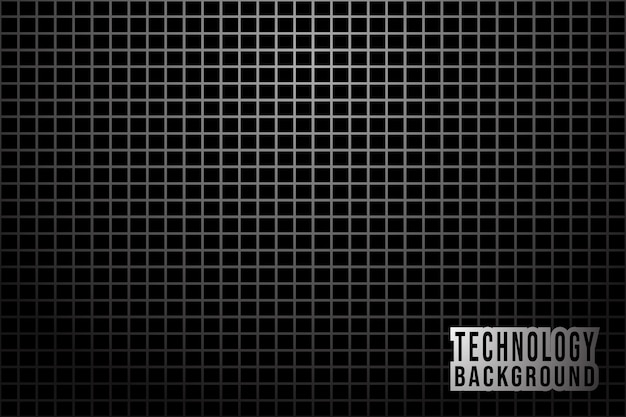 Abstract monochrome background with metallic grid Premium Vector