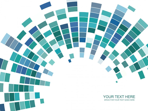 Abstract mosaic background in blue and green tones