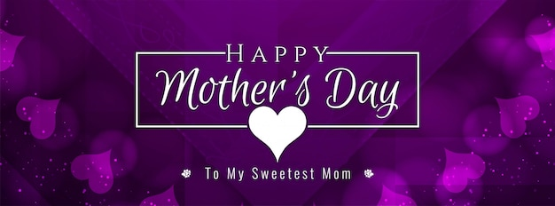 Abstract mother's day banner Free Vector