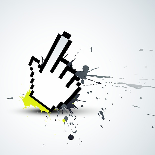 Abstract mouse pointer Free Vector
