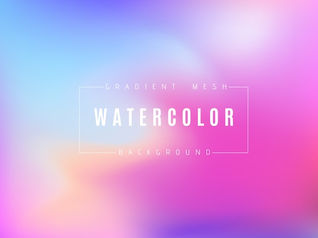 Abstract multicolored bright gradient mesh background Premium Vector