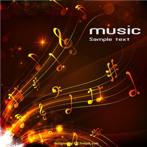 Abstract music background Free Vector