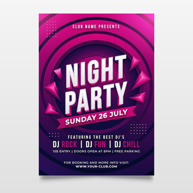 Abstract music party poster Free Vector