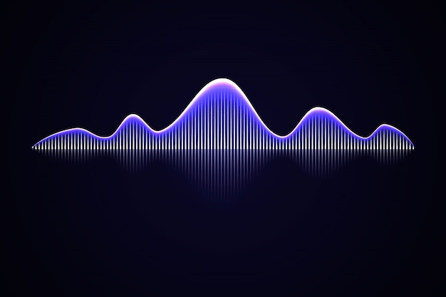 Abstract music sound wave, Premium Vector