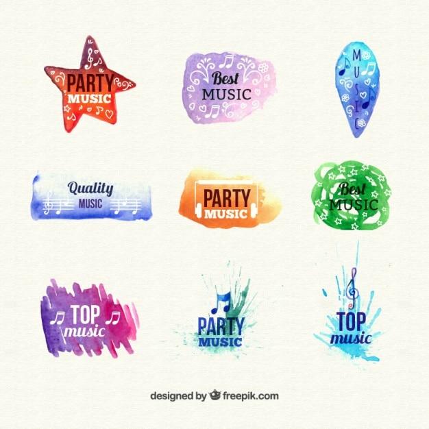Abstract musical logos collection