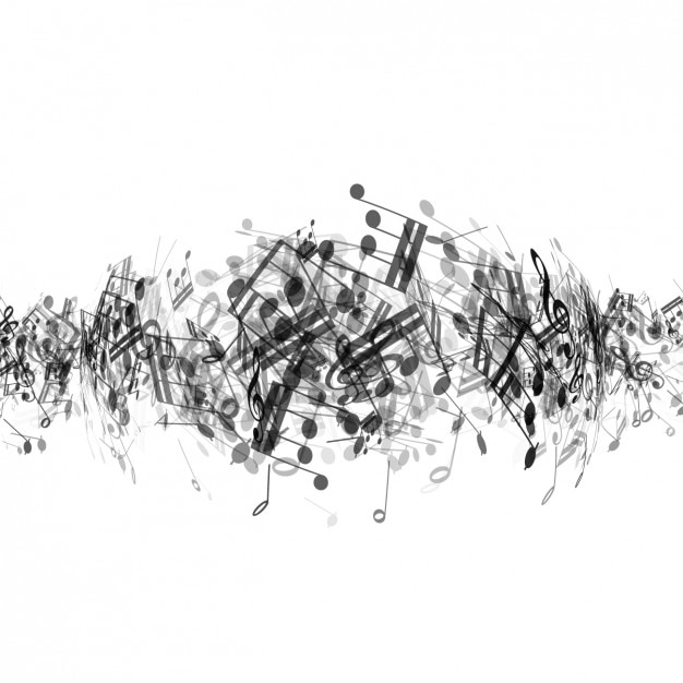 abstract musical notes background vector free download