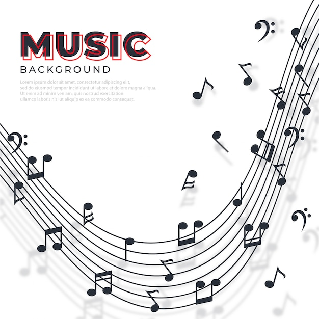 Abstract musical notes banner Premium Vector