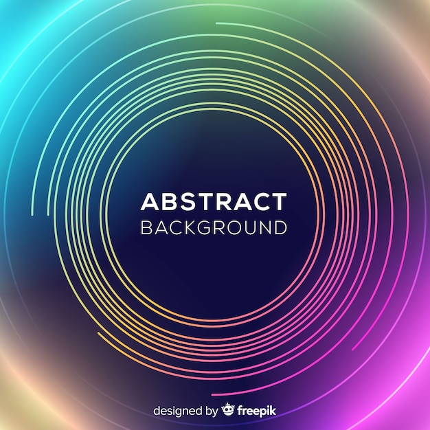 Abstract neon circles background Free Vector