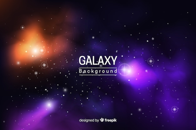 Abstract neon galaxy background Free Vector