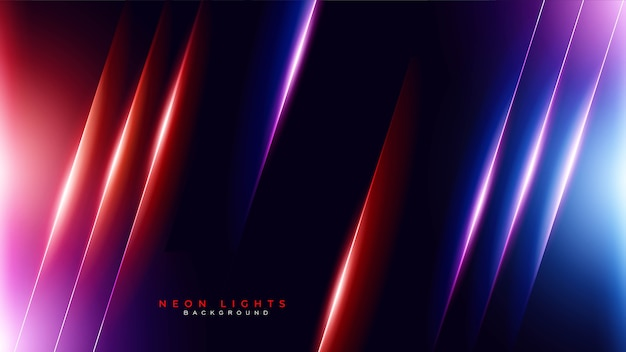 Abstract neon light gaming background Free Vector