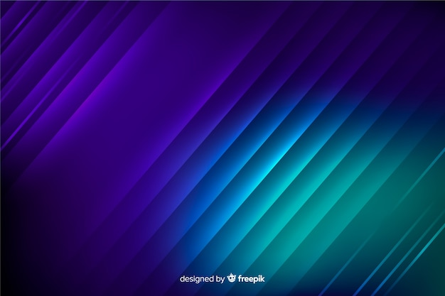 Abstract neon light lines background Free Vector