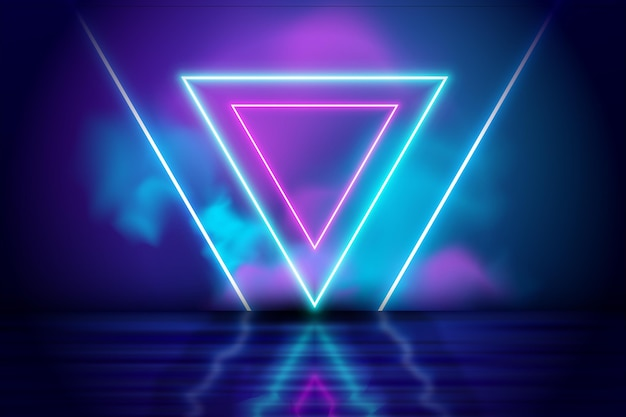 Disegno astratto sfondo luci al neon Vettore gratuito